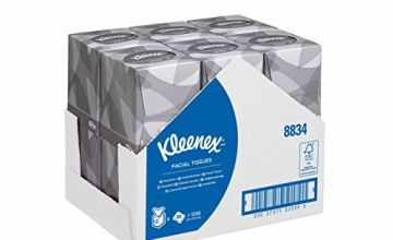 Kleenex 8834 Facial Tissue Cube, 2 ply, White,  12 cubes x 88 Sheets