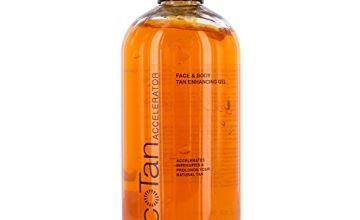 EcoTan Accelerator Face and Body Tanning Gel, Optimises Natural Tan, Can Be Used With Sunbeds 500ml