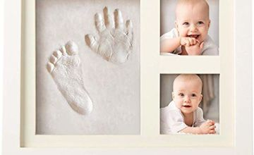 Bubzi Co Baby Footprint Kit & Handprint Kit for Baby Girl Gifts & Baby Boy Gifts, Unique Baby Shower Gifts, Personalized Baby Gifts for Baby Registry, Keepsake Box for Room Wall Nursery Decor