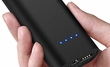 GETIHU Power Bank, Palm Size LED Display 5200mAh Portable Charger, 4.8A 2 USB Ports High-Speed Power Banks with Flashlight, External Phone Battery Pack for iPhone 11 X 8 Plus Samsung S10 LG iPad etc
