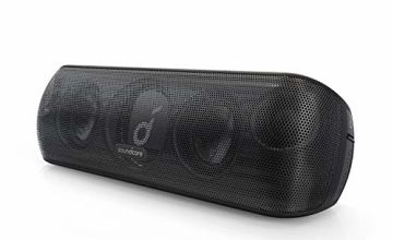 Soundcore Motion+ Bluetooth Speaker with Hi-Res 30W Audio, BassUp, Extended Bass and Treble, Wireless HIFI Portable Speaker with App, Customizable EQ, 12-Hour Playtime, IPX7 Waterproof, and USB-C