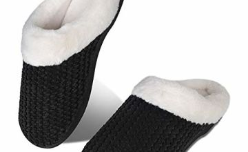 Womens Mens Winter House Slippers Memory Comfort Plush Fleece Lined Warm Cosy Indoor Outdoor Home Non Slip Slippers
