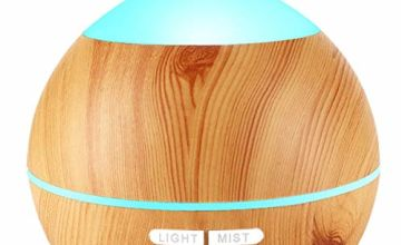 Avaspot Aroma Diffuser,120ml Aromatherapy Ultrasonic Essential Oil Diffuser Cool Mist Humidifier [Auto Shut Off] [7 Colors LED Option] [Mist Modes/Continuous /30s Intervals]