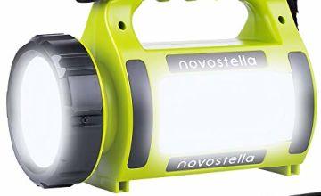 NOVOSTELLA Rechargeable CREE LED Torch, Multi-functional Camping Light, Waterproof Outdoor Spotlight Searchlight, High Power Beam Flashlight, 650lm Lightweight Lantern, 2000mAh Battery