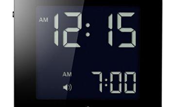 Braun Digital Travel Clock with Snooze, Compact Size, Negative LCD Display, Quick Set, Beep Alarm in Black, Model BNC008BK