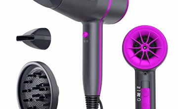 Ribivaul Hair Dryer Professional Ionic Travel Hairdryer with Diffuser and Concentrator