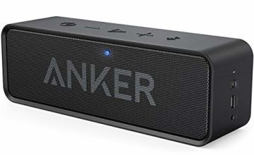 Anker SoundCore Bluetooth Speaker Portable Bluetooth 4.0 Stereo Speaker with 24-Hour Playtime, 6W Dual-Driver, Low Harmonic Distortion, Patented Bass Port and Built-in Microphone