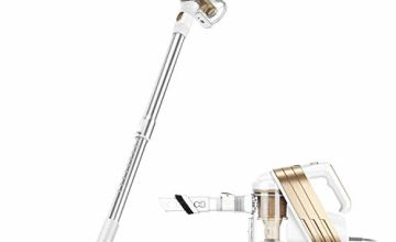 PUPPYOO Stick Vacuum with Mop 6-in-1 Corded Cyclonic Vac WP522 Gold, 18/8 Stainless Steel, 1.2 liters