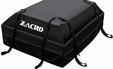Zacro Car Roof Bag 425 Litres 15 Cubic Feet Cargo Bag, Foldable and Waterproof Car Top Carrier, Straps for Any Car with Roof Rack or No Rails