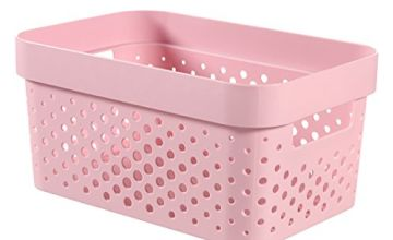 Curver 229627Dots Infinity Pink Plastic Container 26x 18x 13cm, 4.5L