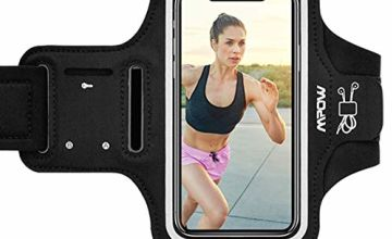 Mpow Running Armband for iPhone 11 Pro Max XS Max 8 Plus 7 Plus 11 XS XR X Samsung S9 Plus Note 9 Up to 6.5'', Sports Armband with Reflective Straps, Headphone Slot Key Slot, Suitable for Running