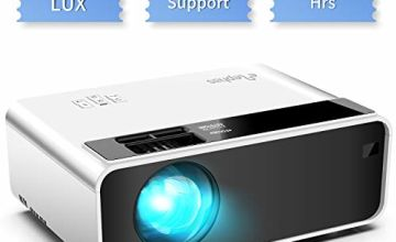 Mini Projector, ELEPHAS Video Projector 4500 lux with 50,000 hrs Long Life LED Portable Home Theater Projector 1080P Supported, Compatible with PS4, PC via HDMI, VGA, TF, AV, and USB Black