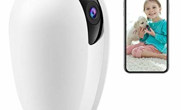 AKASO 1080P IP Camera, Indoor Security Camera Work with Alexa, Google Home, Fire TV, Baby/Pets Monitor, Night Vision, Two-way Audio, Motion Detection & Cloud Storage - P30