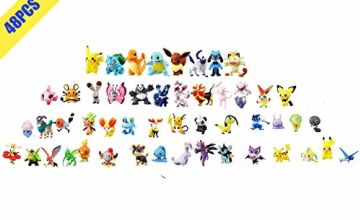 OMZGXGOD-Pokemon Monster Toy Figure,Mini Pokemon Action Figures,Pokemon Figure Include Pikachu,Charmander,Squirtle Best Gift for Kids(48 pieces) (48)