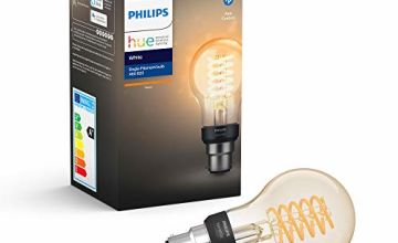 Philips Hue White Filament Single Smart LED Bulb [B22 Bayonet Cap] with Bluetooth, Works with Alexa and Google Assistant
