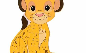 Orange Tree Toys Disney Lion King Simba Wooden Number Puzzle,