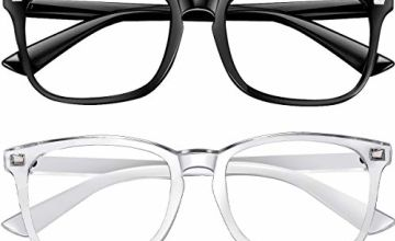 2 Pack Blue Light Blocking Glasses-Blue Light Glasses Computer Gaming Glasses Frame Non-Prescription Lens Anti eyestrain Headache for Women and Men