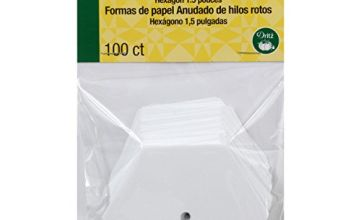 Dritz Quilting Paper Piecing Hexagon-1.5-inch 100/Pkg, 1.5 Inches