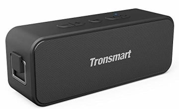 Waterproof Bluetooth speaker, Tronsmart T2 PLUS Portable Speaker with 24 Hours Playtime, IPX7 Waterproof Wireless Bluetooth 5.0 Speaker with TWS, Voice Assistant, Built-In Mic for Phone Outdoor, Alexa