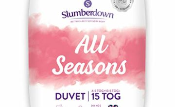 Save on Slumberdown All Seasons 3-in-1 Combination Duvet, Super King, 15 Tog (4.5+10.5) All Year Round and more