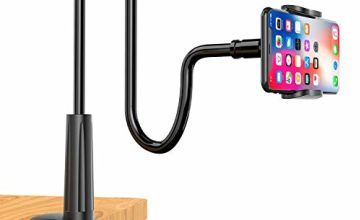 Enllonish Cell Phone Holder, Universal Phone Stand Clip Lazy Bracket Flexible Gooseneck Clamp Long Arms Mount for iPhone 11 Pro Xs Max XR X 8 7 6 6s Plus, Samsung S10 S9 S8 S7 S6