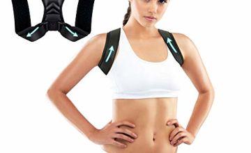 Breett Posture Corrector for Men and Women, Posture Correction, Back Straightener Posture Brace Support Effectively for Neck Shoulder Clavicle Upper Back (Black)