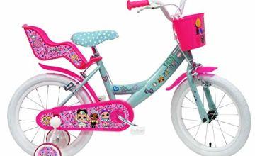 "Denver Bike 16 Lol City Bike 40.6 cm (16"") Steel Pink, Turquoise, White Girls – Bicycle (Vertical, City, 40.6 cm (16""), Steel, Pink, Turquoise, White, 40.6 cm (16"")"