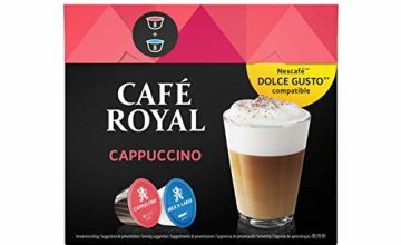 Save on Café Royal Cappuccino 48 Coffee Pods Compatible with The Nescafé (R)* Dolce Gusto (R)* System, 170.4 g, Pack of 3 and more