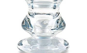 Pajoma Micha 13693 Tapered Candle Holder, Glass, Height 5.5 cm