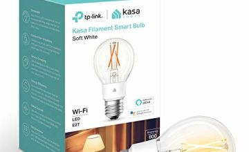Save on Kasa Smart Bulb by TP-Link, WiFi Filament Light Bulb, E27, 7W(60W equiv.), Works with Alexa (Echo and Echo Dot) and Google Home, Dimmable Soft Warm White, No Hub Required (KL50) [Energy Class A++] and more