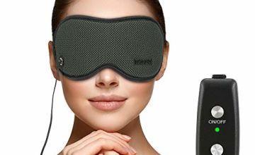 Heated Eye Mask for Sleeping, USB Heated Eye Mask HOMMINI 3D Sleep Mask Adjustable Temperature Control, Relieving Eye Stress and Puffy Eyes, Dry Eye, Eye Fatigue,Improve Blood Circulation of Your Eyes