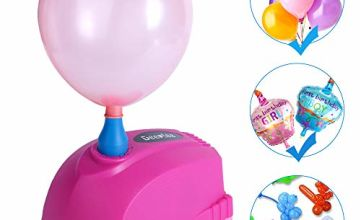 Deeplee Balloon Pump, Mini Electric Balloon Pump 300W Quick Inflator Blower Portable Air Pump for Party, Wedding, Birthday and Festival Decoration