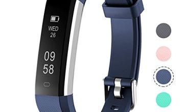 ETSCOM Fitness Tracker, Activity Tracker, IP67 Water Resistant Smart Bracelet as Step Counter, Sleep Monitor, Pedometer, Calorie Counter Watch for Kids Women Men,Blue,Single
