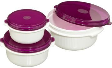 508455 Micro Family microwave 3-dish pack 0.5/1.0/1.5 litres, bramble