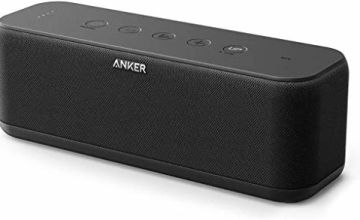 Portable Speakers, Anker Soundcore Boost 20W Bluetooth Speaker with BassUp Technology,  12H Playtime, IPX5 Water-Resistant, Wireless Speaker with Superior Sound & Bass for iPhone, Samsung and More