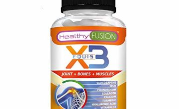 X3 - Pure Hydrolysed Collagen + Hyaluronic Acid + Pure Chondroitin + High-Density Glucosamine + MSM + Calcium + Vitamin D3 – Highly absorbable and Complete Formula – 90 Fast Absorption Capsules