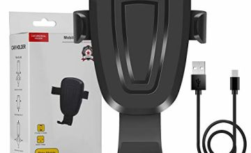 WADEO Wireless Car Charger Mount, Fast Wireless Charger Car Air Vent Phone Holder, Auto Clamping Car Holder for Samsung Galaxy S9/S9+/S8/S8+/S7/S6/Note 8/Note 5, iPhone 8/8 Plus/X/XR, Black