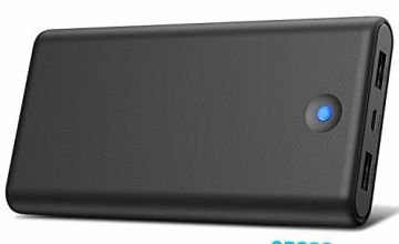 Trswyop Power Bank, 25800mah Portable Charger【Colorful LED Indicator Design】Ultra Compact Quick Charge Power Banks 2 Port Output External Battery Pack for Smartphone, Tablet and More