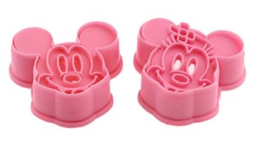 DeColorDulce Silver-coloured Minnie Mouse Slicers and ABS biscuit cutters, 25 x 10 x 3cm