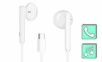 USB Type C Headphones, MoYaGoa In-Ear Stereo UBS C Earphones, Hands-free USB C Wired Headset Noise Isolating Earbuds with Mic & Remote Control Compatible with Huawei, Google Pixel, HTC, SONY