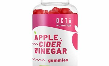 Raw Apple Cider Vinegar Gummies 1000MG by Octo Nutrition - with The Mother Organic, Unfiltered ACV - Gummy Alternative to Apple Cider Vinegar Capsules, Pills, Tablets - for Men & Women