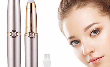 Eyebrow Hair Remover Precision,Eyebrow Trimmer Painless, Facial Hair Remover Women, Waterproof Portable Electric Razor with Light, Ladies Automatic Shaver for Eyebrow/Facial Hair/Lip/Chin(Rose Gold)