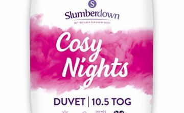 Save on Slumberdown Cosy Nights Duvet, King Size, 10.5 Tog All Year Round and more