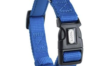 YUDOTE Adjustable Nylon Dog Collar with Soft Neoprene Padding for Puppies Small Medium Large Sized Dogs Daily Use