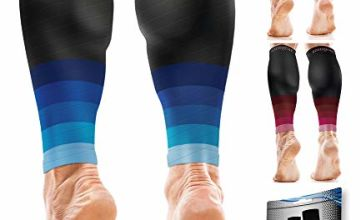 aZengear Calf Compression Sleeves for Men & Women - Shin Splint and Calf Support Brace - Compression Calf Guards - Leg Sleeves for Torn Muscle Cramps