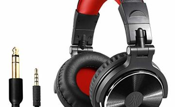 OneOdio Over Ear Headphones Closed Back Studio DJ Headphones for Monitoring Mixing Recording and Keyboard Guitar amp, Adapter Free, Newest 50mm Neodymium Drivers, Foldable Headphones Wired