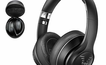 Bluetooth Headphones Over Ear, 2019 Upgraded Tribit XFree Tune Wireless Headphones 40 Hrs Playtime,Hi-Fi Stereo Sound with Rich Bass,Soft Earmuffs- Foldable Headset with CarryCase[The Cnet's Choice]