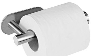 Toilet Paper Holder, AIKZIK® Stainless Steel Wall Mount Self Adhesive Toilet Roll Holder for Bathroom and Kitchen