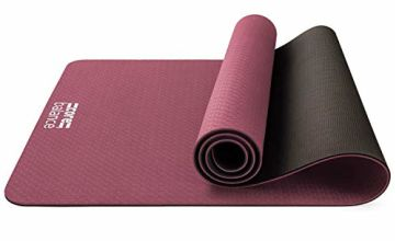 Core Balance TPE Yoga Mat Non Slip Pilates Exercise Fitness 183cm x 65cm x 6mm Thick Foam With Carry Strap