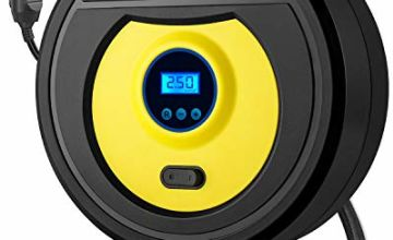DeepDream Tyre Inflator Digital 12V 150PSI Auto Car Tyre Pump Portable Air Compressor with 35L/Min Air Flow and LED Light